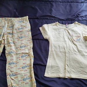 med pj set, pants and top